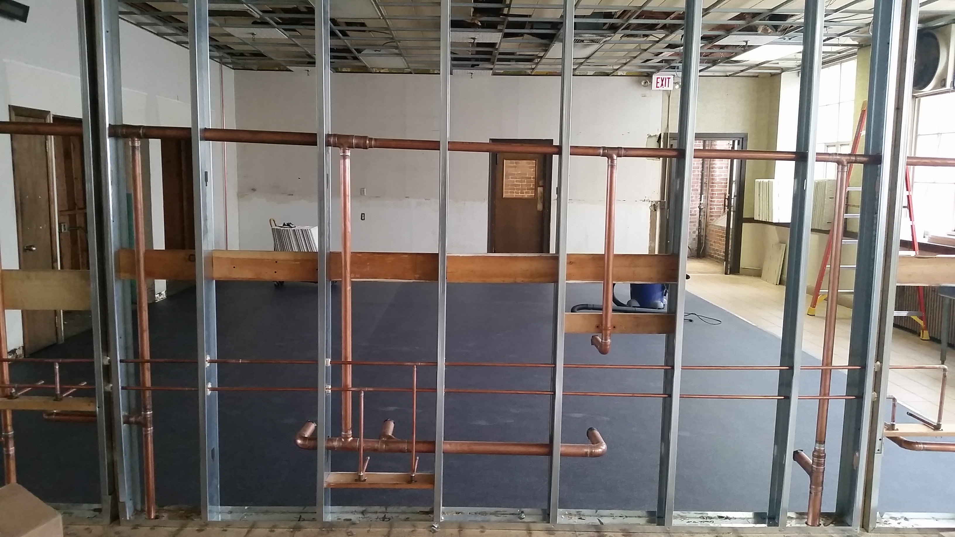 New Floor Is In And Plumbing Has Started Too! Both Are Works Of Art!