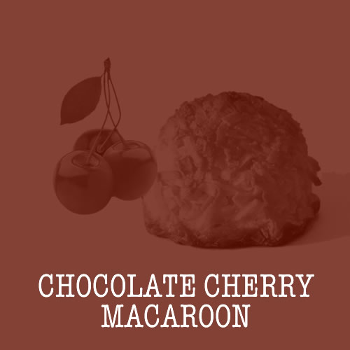 Chocolate Cherry Macaroon