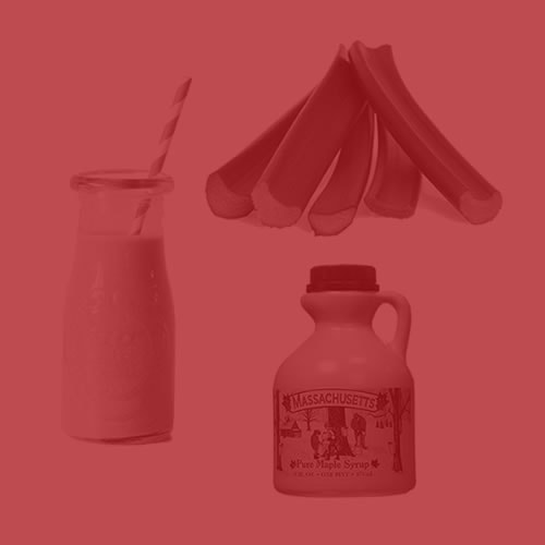Maple Rhubarb Cream