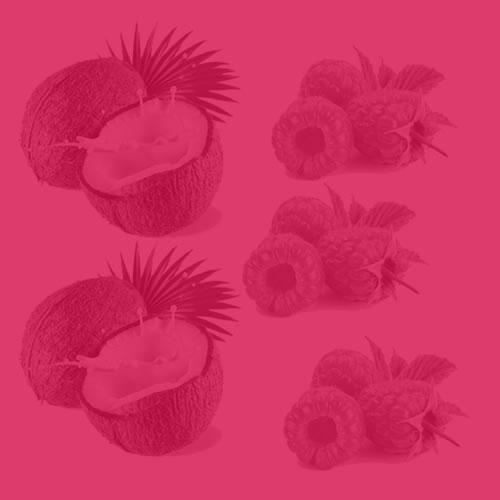 Coconut + Raspberry